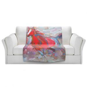 Artistic Sherpa Pile Blankets | Hooshang Khorasani Equine Exuberance IV Horse