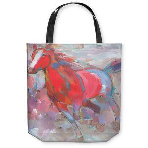 Unique Shoulder Bag Tote Bags | Hooshang Khorasani Equine Exuberance IV Horse