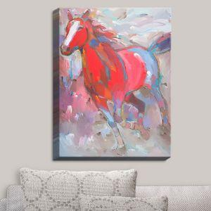 Decorative Canvas Wall Art   Hooshang Khorasani - Equine Exuberance IV Horses
