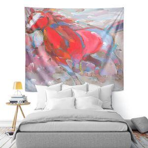 Artistic Wall Tapestry | Hooshang Khorasani Equine Exuberance IV Horse