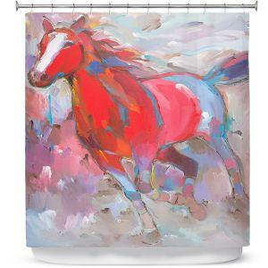 Premium Shower Curtains | Hooshang Khorasani Equine Exuberance IV Horse