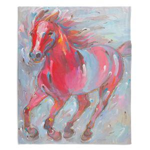 Decorative Fleece Throw Blankets | Hooshang Khorasani - Equine Power Horses