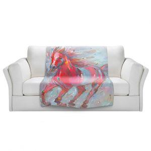 Artistic Sherpa Pile Blankets | Hooshang Khorasani - Equine Power Horse