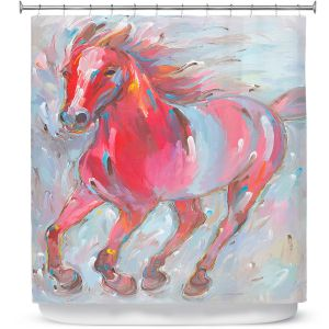 Premium Shower Curtains | Hooshang Khorasani - Equine Power Horse