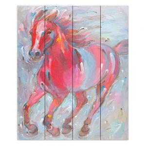 Decorative Wood Plank Wall Art   Hooshang Khorasani - Equine Power Horse