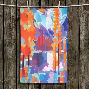 Unique Hanging Tea Towels | Hooshang Khorasani - Flaming Foliage Longs Peak | Trees Nature