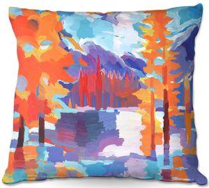 Decorative Outdoor Patio Pillow Cushion   Hooshang Khorasani - Flaming Foliage Longs Peak