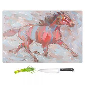 Artistic Kitchen Bar Cutting Boards | Hooshang Khorasani - Full Stride Ahead Horse