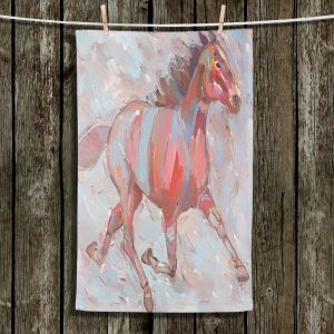 Unique Hanging Tea Towels | Hooshang Khorasani - Full Stride Ahead Horses | Animals Horse