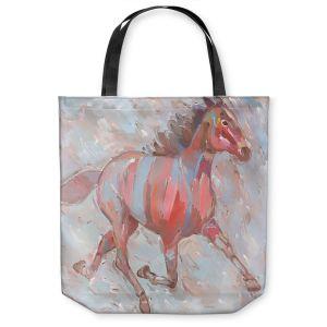 Unique Shoulder Bag Tote Bags | Hooshang Khorasani Full Stride Ahead Horse