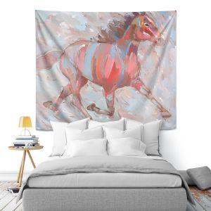 Artistic Wall Tapestry | Hooshang Khorasani Full Stride Ahead Horse
