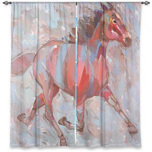 Decorative Window Treatments | Hooshang Khorasani Full Stride Ahead Horse