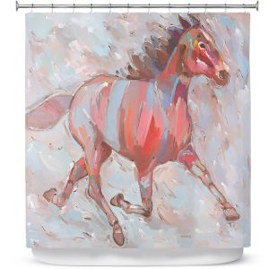 Premium Shower Curtains | Hooshang Khorasani Full Stride Ahead Horse