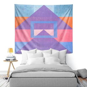 Artistic Wall Tapestry | Hooshang Khorasani - Geometric Joy | lines pattern geometric