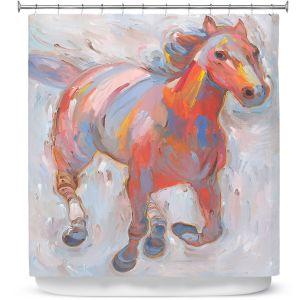Premium Shower Curtains | Hooshang Khorasani Hear the Pounding I
