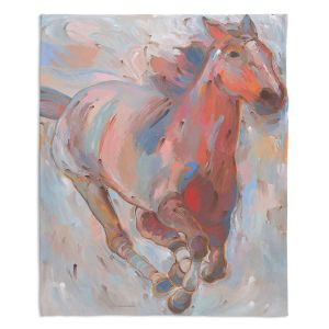 Decorative Fleece Throw Blankets | Hooshang Khorasani - Hear the Pounding II Horses