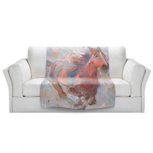 Artistic Sherpa Pile Blankets | Hooshang Khorasani - Hear the Pounding II Horse