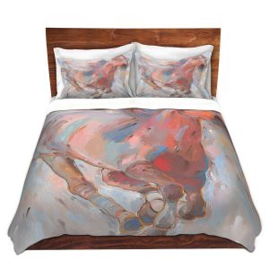 Artistic Duvet Covers and Shams Bedding | Hooshang Khorasani - Hear the Pounding II Horses