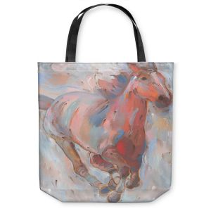 Unique Shoulder Bag Tote Bags | Hooshang Khorasani - Hear the Pounding II Horse