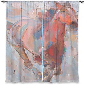 Decorative Window Treatments | Hooshang Khorasani - Hear the Pounding II Horse