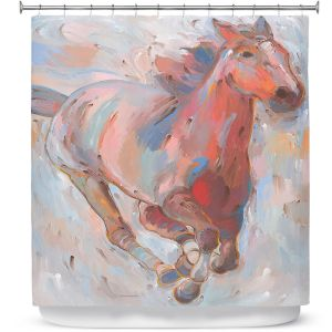 Premium Shower Curtains | Hooshang Khorasani - Hear the Pounding II Horse