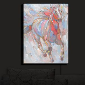 Nightlight Sconce Canvas Light | Hooshang Khorasani - Horse Power I Horses