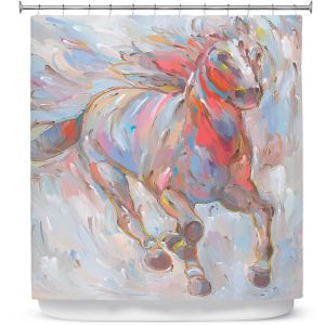 Premium Shower Curtains | Hooshang Khorasani Horse Power I Horse
