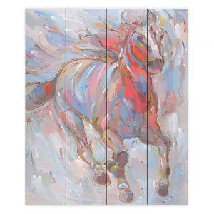 Decorative Wood Plank Wall Art   Hooshang Khorasani Horse Power I Horse