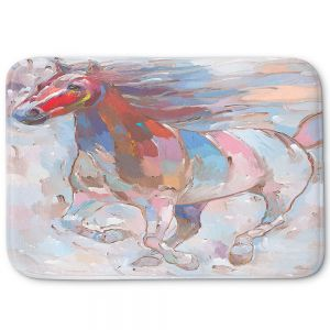 Decorative Bathroom Mats   Hooshang Khorasani - Horse Power II Horses