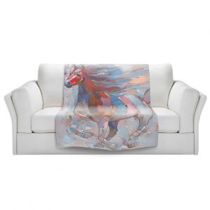 Artistic Sherpa Pile Blankets | Hooshang Khorasani Horse Power II Horse