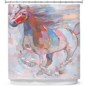 Premium Shower Curtains | Hooshang Khorasani Horse Power II Horse