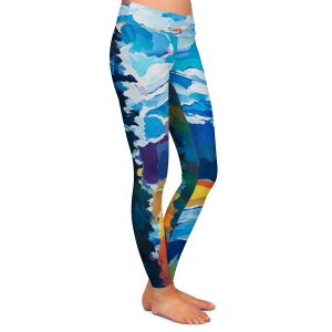Casual Comfortable Leggings | Hooshang Khorasani - Mountain View | mountain landscape forest abstract painterly