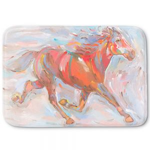 Decorative Bathroom Mats | Hooshang Khorasani - Natural Runner Horses