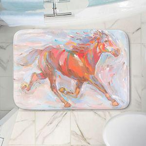 Decorative Bathroom Mats | Hooshang Khorasani - Natural Runner Horses