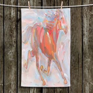 Unique Hanging Tea Towels | Hooshang Khorasani - Natural Runner Horses | Animals Horse