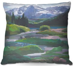 Decorative Outdoor Patio Pillow Cushion   Hooshang Khorasani - Maroon Bells Aspen