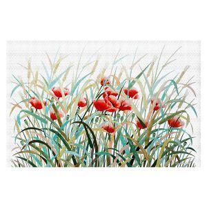 Decorative Floor Covering Mats | Hooshang Khorasani - Poppy Field | Flowers Nature