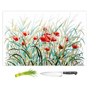 Artistic Kitchen Bar Cutting Boards | Hooshang Khorasani - Poppy Field | Flowers Nature