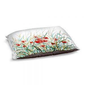 Decorative Dog Pet Beds | Hooshang Khorasani - Poppy Field | Flowers Nature