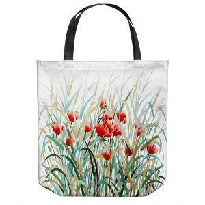 Unique Shoulder Bag Tote Bags   Hooshang Khorasani - Poppy Field   Flowers Nature