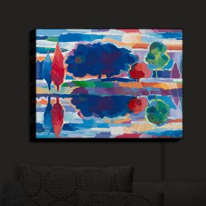 Nightlight Sconce Canvas Light | Hooshang Khorasani - Purple Majesty