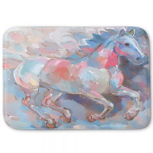 Decorative Bathroom Mats | Hooshang Khorasani - Ready to Soar II Horses