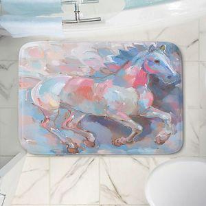 Decorative Bathroom Mats | Hooshang Khorasani - Ready to Soar II Horses