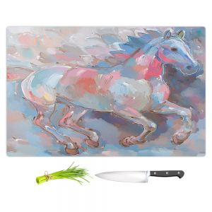 Artistic Kitchen Bar Cutting Boards | Hooshang Khorasani - Ready To Soar II Horse