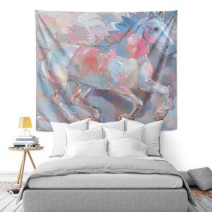 Artistic Wall Tapestry | Hooshang Khorasani Ready To Soar II Horse