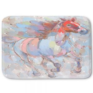 Decorative Bathroom Mats | Hooshang Khorasani - Ready to Soar III Horses