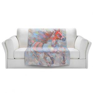 Artistic Sherpa Pile Blankets | Hooshang Khorasani - Ready to Soar III Horse