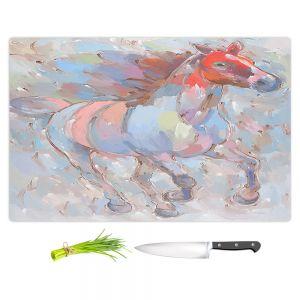 Artistic Kitchen Bar Cutting Boards | Hooshang Khorasani - Ready to Soar III Horses