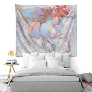 Artistic Wall Tapestry | Hooshang Khorasani - Ready to Soar III Horse