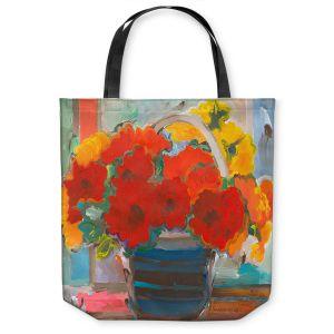Unique Shoulder Bag Tote Bags | Hooshang Khorasani - Red Bouquet Flowers